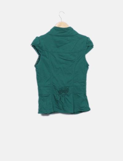 Chaqueta verde manga corta