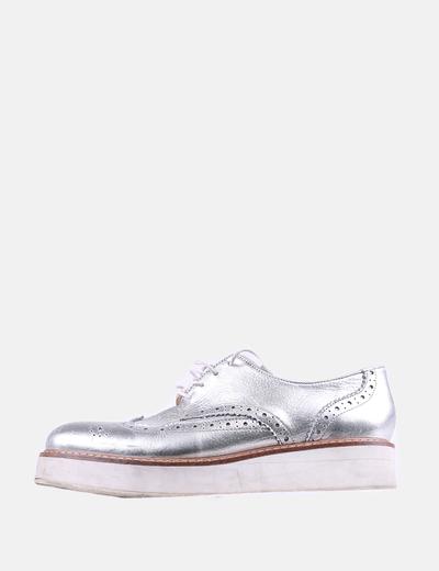 Zapato plano plateado Jonak