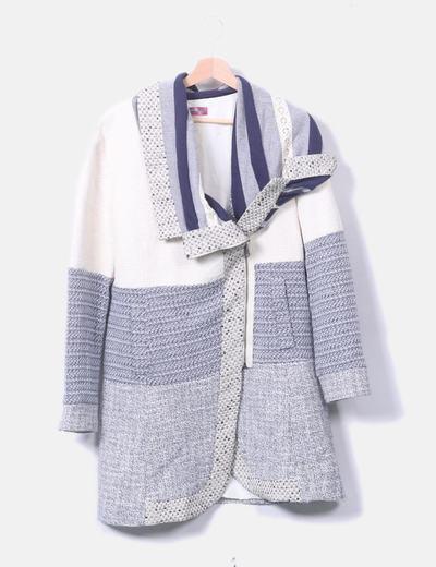 Abrigo combinado bicolor