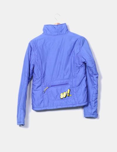 Chaqueta acolchada impermeable azul