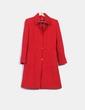 Abrigo rojo texturizado Carolina Herrera