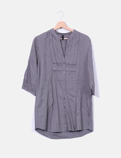 Vestido camisero gris marengo Vero Moda