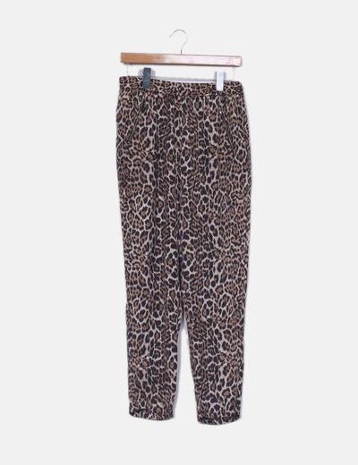 Pantalon harem leopardo Pimkie