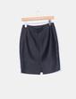 Falda midi negra texturizada NoName