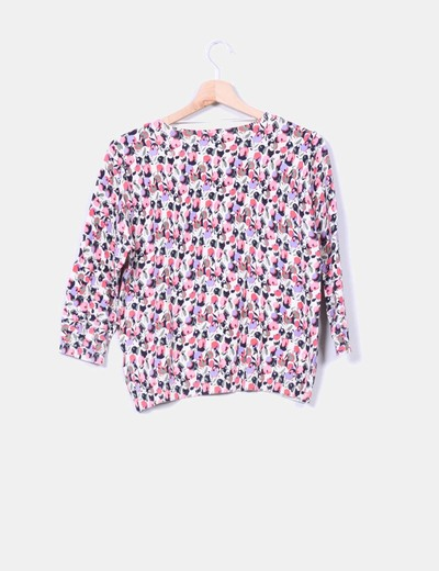 Sueter tricot print floral