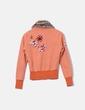 Chaqueta deportiva naranja bordada Datch