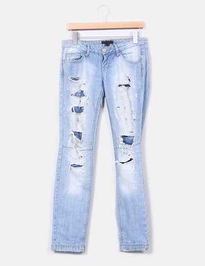 Jeans claros con rotos Mango