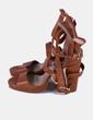 Sandalia romana cuero con tacón  Mustt