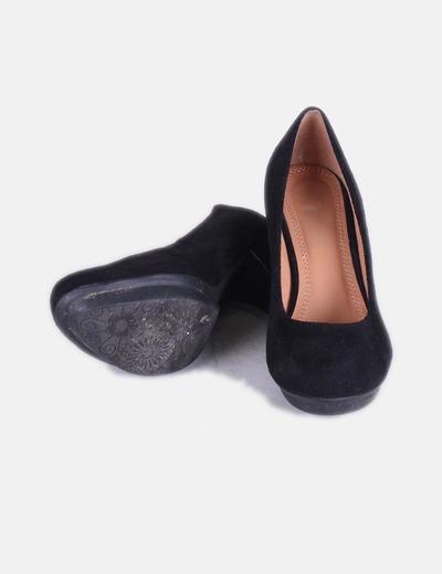 Zapatos antelina negros