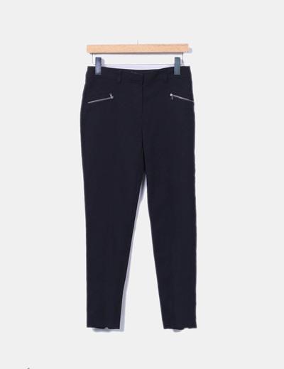 Pantalon noir ajusté Atmosphere