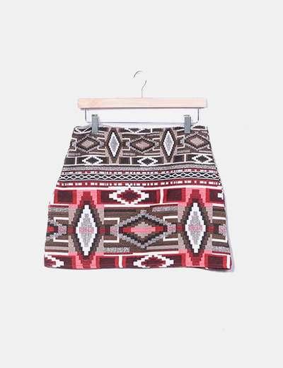 Falda estampado estinco