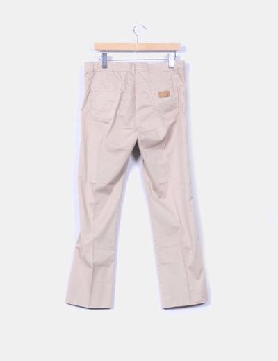 Pantalon beige de pinza