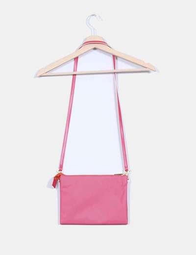 Bolso rosa con cremallera dorada