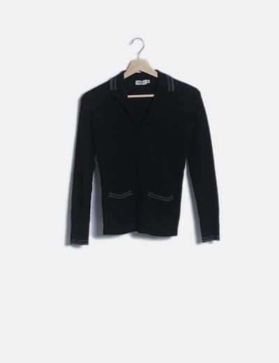 Chaqueta tricot negra