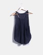 Camiseta lino azul oversize Friday's Project
