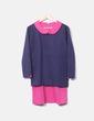 Vestido combinado azul marino y rosa NoName