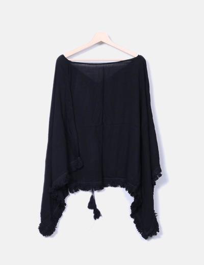 Bluson negro con flecos