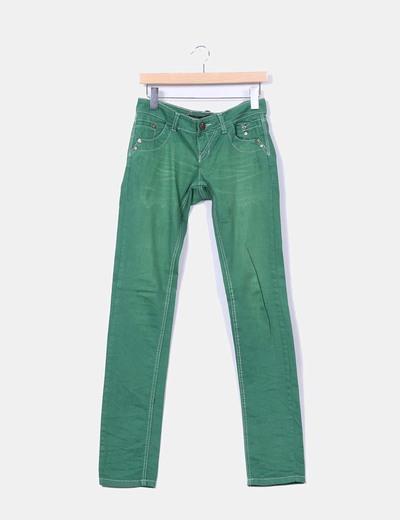 Jeans denim verde Stradivarius