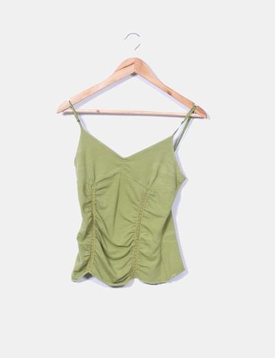 Top verde combinado Zara