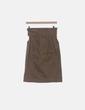 Falda midi khaki paperbag H&M