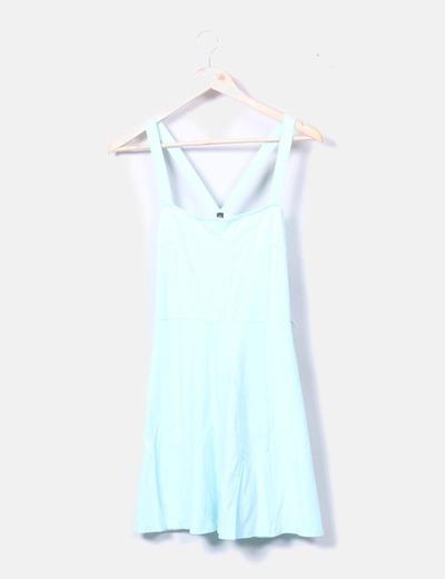 Vestido de tirantes azul