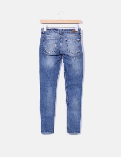 Jeans denim pitillo ripped