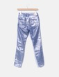 Jeans denim pitillo encerado plata Zara