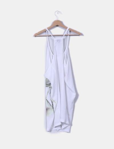 Camisola blanca print