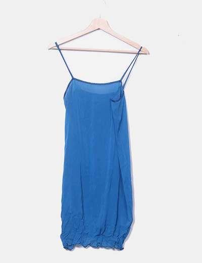 Vestido lencero azul NoName