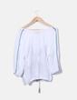 Blusa blanca con bordados Cortefiel