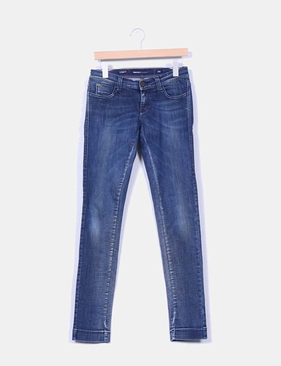 Pantalon denim oscuro