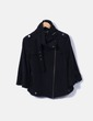 Abrigo corto negro Massimo Dutti