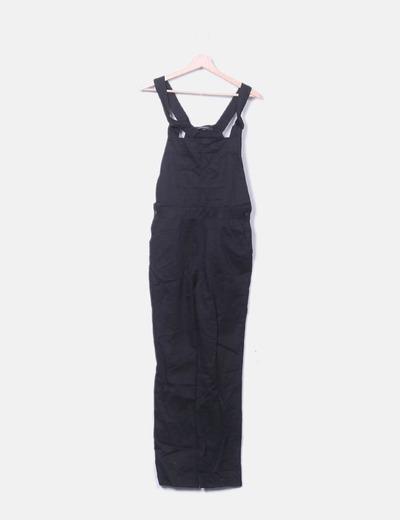 Salopettes noires à poches Haoduoyi