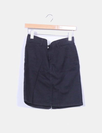 Falda midi negra XXI