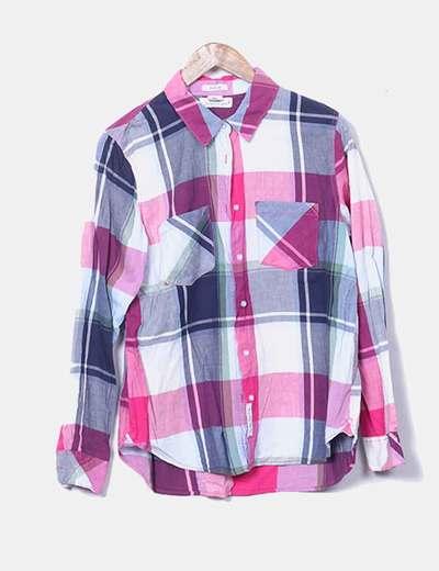Camisa cuadros multicolor H&M