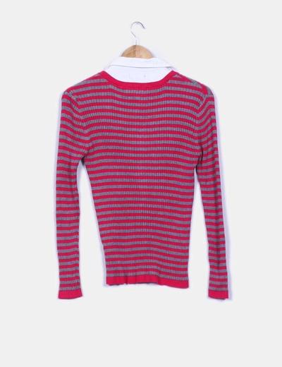 Jersey combinado con camisa
