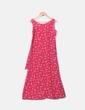 Maxi vestido rojo estampado red globe