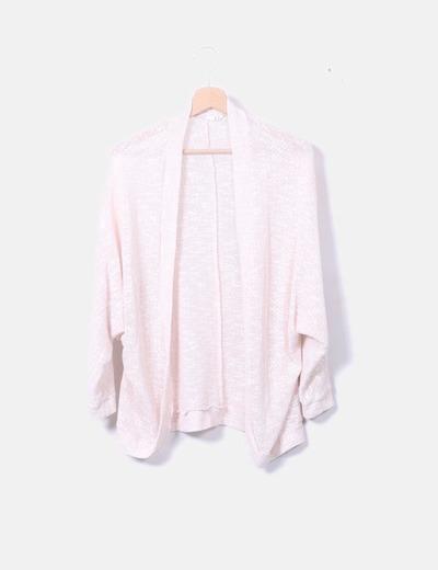 Cardiga tricot rosa palo