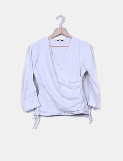 Blusa blanca elástica Anne Fontaine
