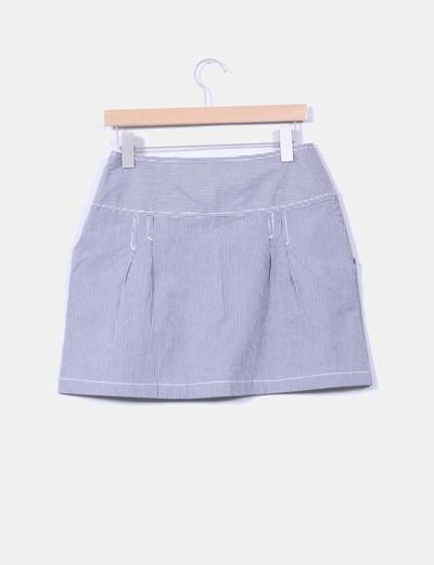 Mini falda de rayas