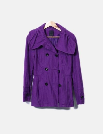 Vero Moda Manteau violet long (réduction 81%) - Micolet ceaef029a1b