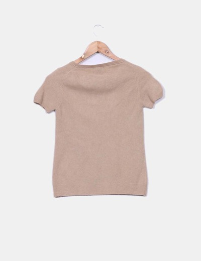 Jersey de manga corta beige