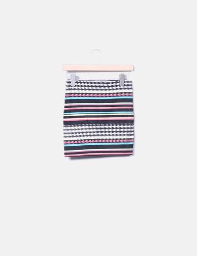 Mini falda de rayas Bershka