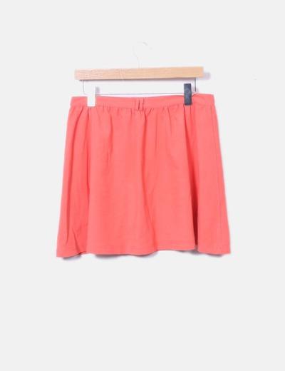 Mini falda fluor