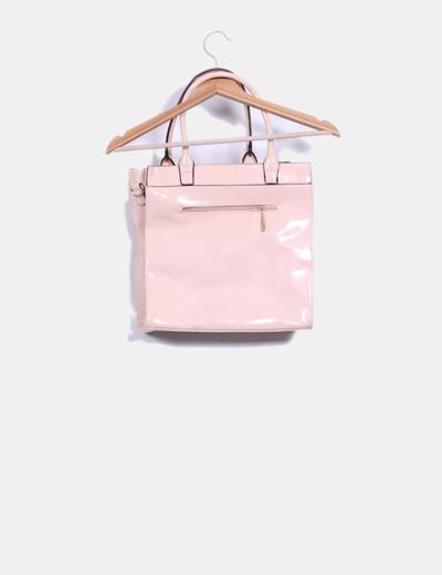 80b04fcaf Maria Mare Bolso acharolado color rosa palo (descuento 68%) - Micolet