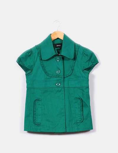 Blazer manga corta verde intenso  Suiteblanco