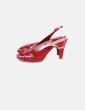 Sandales plate rouges -forme Pomares Vazquez