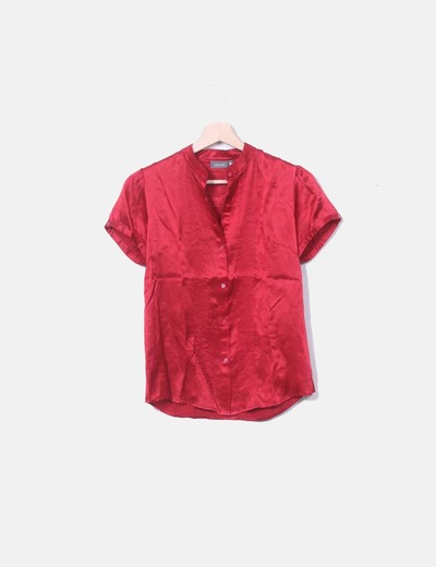 Camisa roja manga corta Trucco
