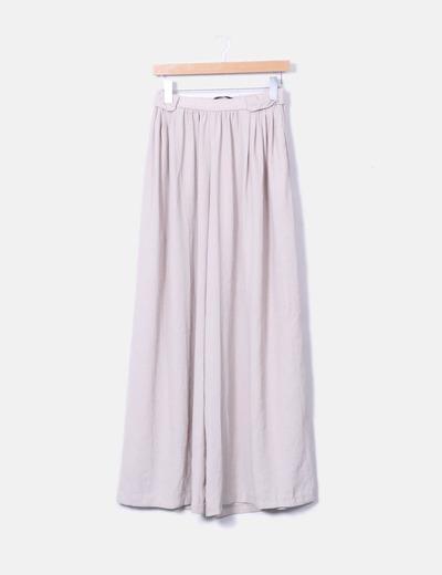 Pantalons beiges palazzo Zara