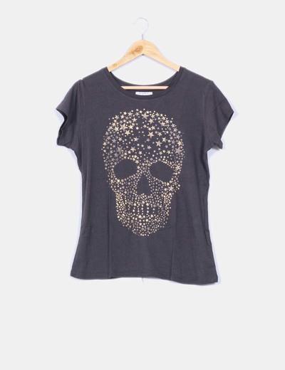 camisetas calaveras zara mujer